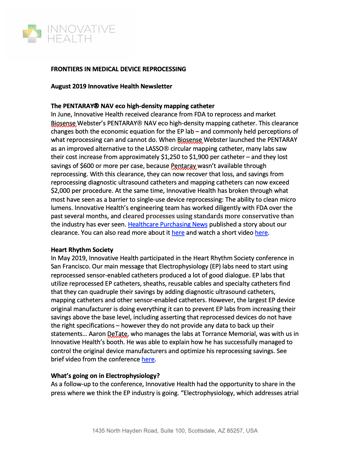 2019 Q2 Newsletter screenshot